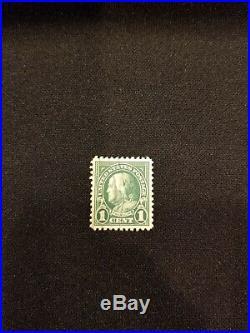 1923 Rare GREEN BENJAMIN FRANKLIN 1 CENT STAMP