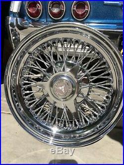 (4) 14X7 Zenith Wire Wheels Mercedes Original Old School Stamped 1980 5 Lug OG