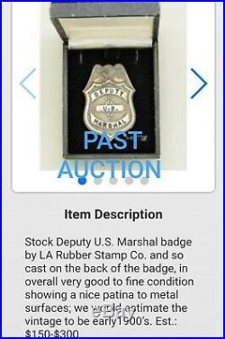 Antique LA Stamp & Staty Hallmark Early 1900s