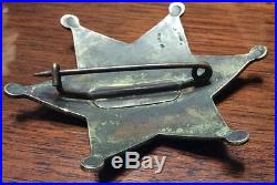 Antique US United States Deputy Marshal Badge US Stamp & Staty co old west star