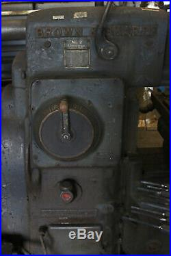 Brown & Sharpe No. 2 Universal Light Type Milling Machine