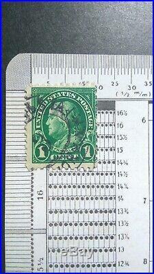 DTG US Stamp 1 cent Green, Perf11 Scott #596