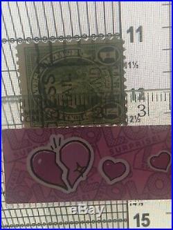 Francobollo Stamp USA 1 Cent Franklin green dentatura 11