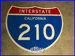 Genuine California Interstate 210 Fwy Sign with Property Stamp, 30 x 25 x 1/16