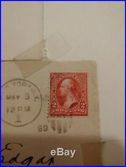George Washington Two Cent USPS Stamp Red No Reserve! Very Rare