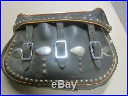 Harley Davidson Stamped Vintage OEM 1940's 50's Leather Saddlebags Nice Panhead