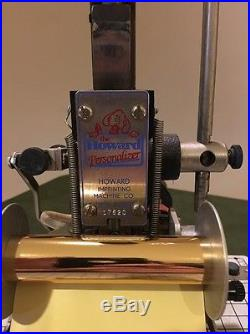 howard imprinting machine for sale