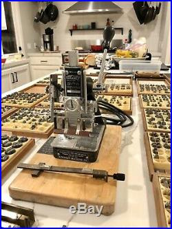 Huge Lot Kingsley Hot Foil Stamping M-50 Machine with Accessories