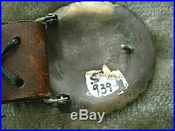 Huge Southwestern Native American Indian Stamped Sterling Silver Concho Belt