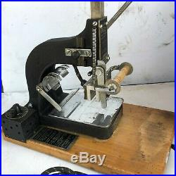 Kingsley Machine SINGLE LINE Hot Foil Stamping Machine USED WORKING 4 LETTER SET