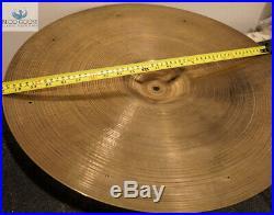 Large Stamp Vintage 1954-1957 Avedis Zildjian 22 Sizzle Ride Cymbal 2,188g
