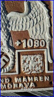 Nazi Germany World War 2 Stamp Seal Cast Iron Sign WW2 Protectorate of Bohemia