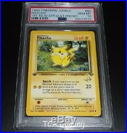 PSA 10 GEM MINT Pikachu 60/64 1st Ed. WOTC Gold W Stamped PROMO Pokemon Card