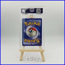 Pikachu E3 stamp Base set 58/102 signed by Mitsuhiro Arita PSA 8 AUTO 9 Pop 1