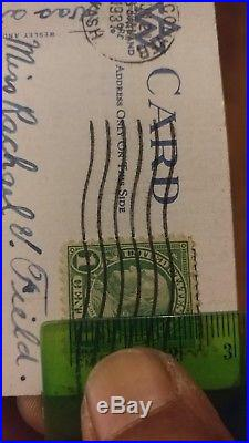 Rare 1 Cent Benjamin Franklin Stamp Green Used Scott 596 United States Used Stamps