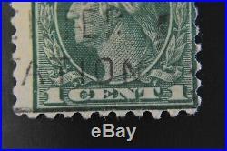 RARE 1917 US, 1c stamp, Used, George Washington
