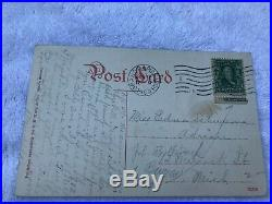RARE Vintage 1902 Ben Franklin Stamp Postage Bureau Engraving Postcard Gran Rapi