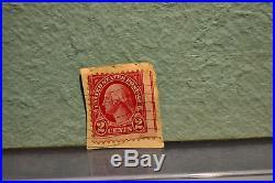 RED LINE 2 CENT RARE STAMP George Washington FREE SHIP