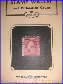 ROSE 499 George Washington 2 Cent EFO Stamp L. B CORNER Cancel NG VF 11X11 Type 1