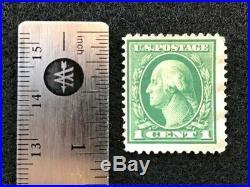Rare and genuine Washington 1922 1c Green Stamp, Rotary Perf 11 (SCOTT # 544)