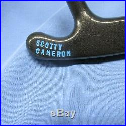 SCOTTY CAMERON Bulls Eye Putter Custom Finish Origin Grip + Stamped + FREE Cover
