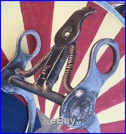 SPADE horse BIT maker stamped from Buermann antique & COOL