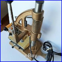 Tested Vintage The Goldsmith Hot Gold Foil Stamping Machine Monroe Wisconsin