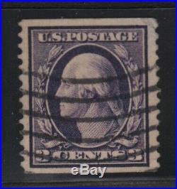 US SCOTT #389, Used Rare Orangeburg Coil, PF and Crowe Certificate (DFP 12/11)