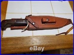 VINTAGE WESTERN W49 USA BOWIE KNIFE WithCUSTOM MADE SHEATH GUARD STAMPED 1966-68