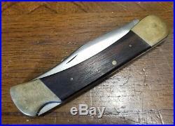 VTG RARE Early 60's Buck 110 Lockback Knife ONE LINER Inverted Line Tang Stamp
