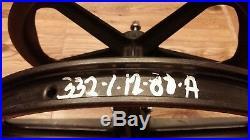 VTG Skyway 1st Gen Black Un-stamped Tuff Wheel Mags, Font/Rear Set, Coaster