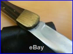 Vintage Early 1960's Buck 110 Lockback Knife ONE LINER Inverted Line Tang Stamp