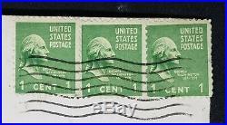 Vintage George Washington 1 Cent Stamp Green Old Rare Lot of 3