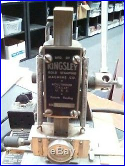 Vintage Kingsley Gold Stamping Machine Hot Foil Hollywood Stamping