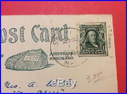 Vintage Post Card with U. S. 1 cent B. Franklin Stamp series 1902