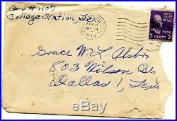 Vintage RARE 1944 Thomas Jefferson 3 Cent Stamp A279 on Letter