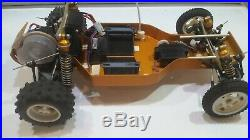 Vintage RC10 Team Associated A Stamped Gold Pan with KO PRO Radio