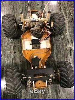 Vintage RC10 Team Associated Gold Pan A STAMP Monster Truck Conversion JG