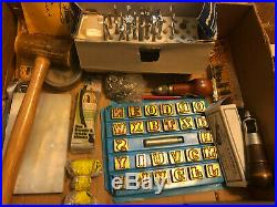 Vtg CRAFTOOL USA LEATHER STAMPING TOOL Lot Alphabet & Many other Pieces & Items