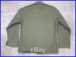 WWII USMC P41 HBT Utility Shirt Jacket Coat Size 38 40s VTG Stamp Marines Twill