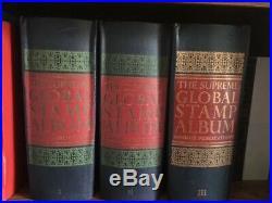 Worldwide collection. 3 Minkus Supreme albums. All classics less than 20% CV